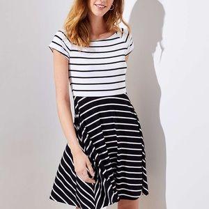 NWT, Loft, petite stripe swing dress!